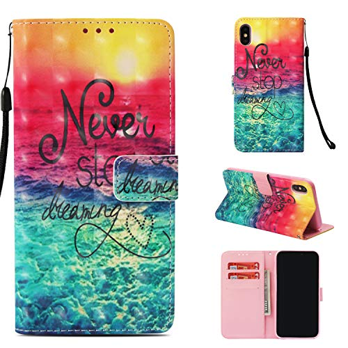 iPhone Xs Max Case,ZERMU 3D Cute Pattern Shockproof Premium PU Leather Flip Folio Wallet Case with Kickstand Card Holder ID Slot and Hand Strap Magnetic Closure Cover for iPhone Xs Max 6.5 inch (2018)