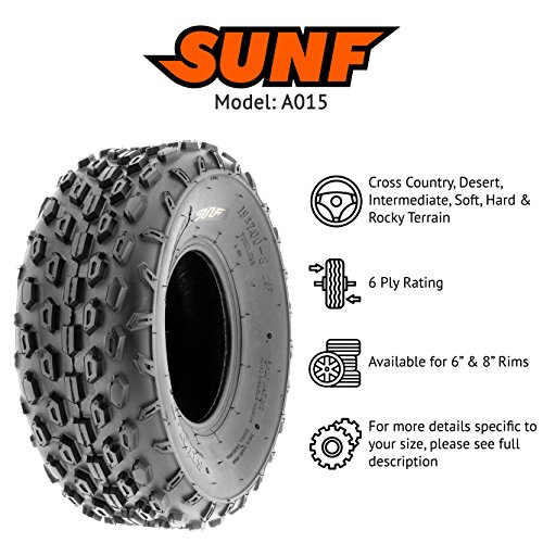 Set of 2 SunF A015 Sport-Racing ATV/UTV Tires 145/70-6, 6-PR by SunF (Image #2)