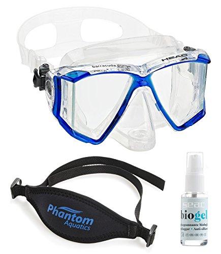 Phantom Aquatics Head by Mares Panoramic Purge Mask with Accessories ()