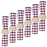 C&F Home Picnic Plaid Red White and Blue Cotton Napkin 18x18 Set of 6 Napkin Set of 6 Picnic Red Plaid