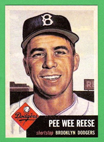 Pee Wee Reese 1953 Topps Baseball Reprint Card (Dodgers) ()