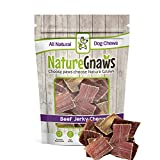 Nature Gnaws Beef Jerky Bites 3-4″ (20 Pack) – 100% All-Natural Grass-Fed Free-Range Premium Beef Dog Chews