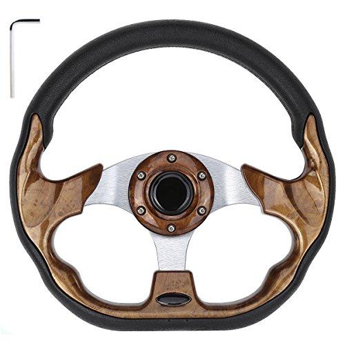 10L0L Generic Golf Cart Yamaha EZGO Club Car Steering Wheel or Adapter for DS Club Car Precedent (Steering Wheel (SW036)) (Wheel Cart Ezgo Golf Steering)