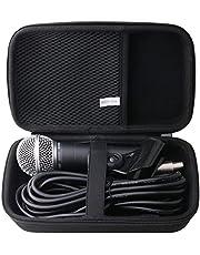 JINMEI Funda rígida de transporte EVA compatible con micrófono vocal dinámico cardioide Shure SM58-CN/PGA58.