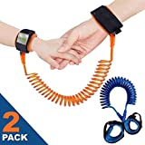 Anti Lost Wristband Link for Child & Babies Toddler Safety, Harnesses & Leashes Walking Hand Belt Straps (4.9ft Blue + 8.2ft Orange) by Ecobaby
