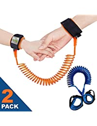Anti Lost Wristband Link for Child & Babies Toddler Safety, Harnesses & Leashes Walking Hand Belt Straps (4.9ft Blue + 8.2ft Orange) by Ecobaby BOBEBE Online Baby Store From New York to Miami and Los Angeles