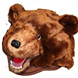 Grizzly Bear Furry Plush Animal Hat - One Size Fits All, Unisex