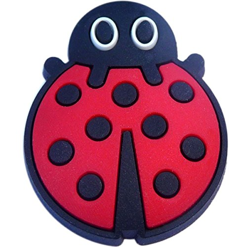 Ladybug Rubber Charm for Wristbands and Shoes