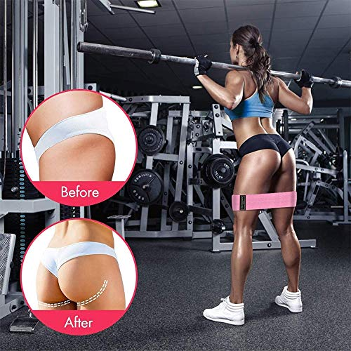 ANDSTON Resistance Bands for Legs and Butt, Non-Slip Elastic Fitness Booty Bands, Fabric Workout Bands Exercise Loops Bands Hip Bands for Women Body Stretching, Yoga, Pilates (3 Pack)