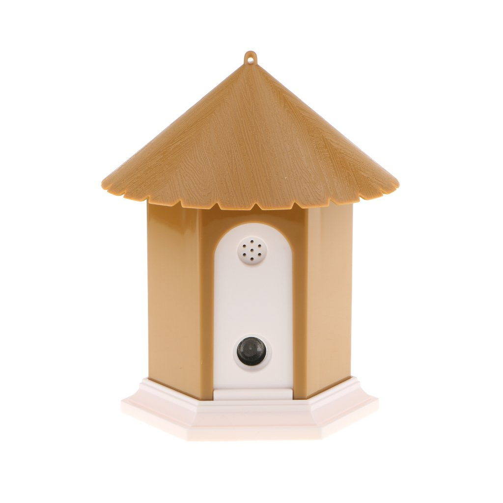 Brown Baoblaze Pet Training Ultrasonic Stop Dog Barking Anti Bark Silencer Bird House 5x6inch, up to 50ft Brown
