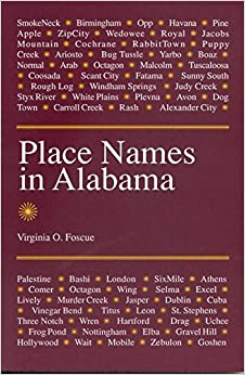 Book Place Names in Alabama