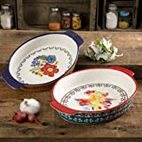 The Pioneer Woman Fiona Floral 2-Piece Oval Bakers