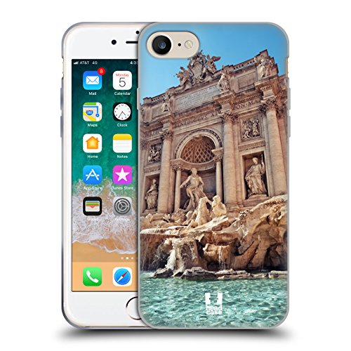 Head Case Designs Trevi Fountain Rome Italy A Glimpse of Rome Soft Gel Case Compatible for iPhone 7 / iPhone 8
