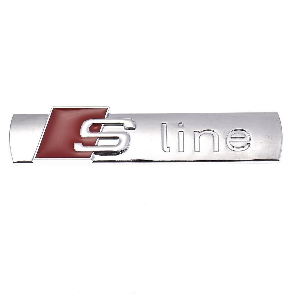 3D metal S-line Pegatinas puerta del coche de Audi S-line Logo A3 A4 A5 A6 Q3 Q5 Q7 B7 B8 C5 S6