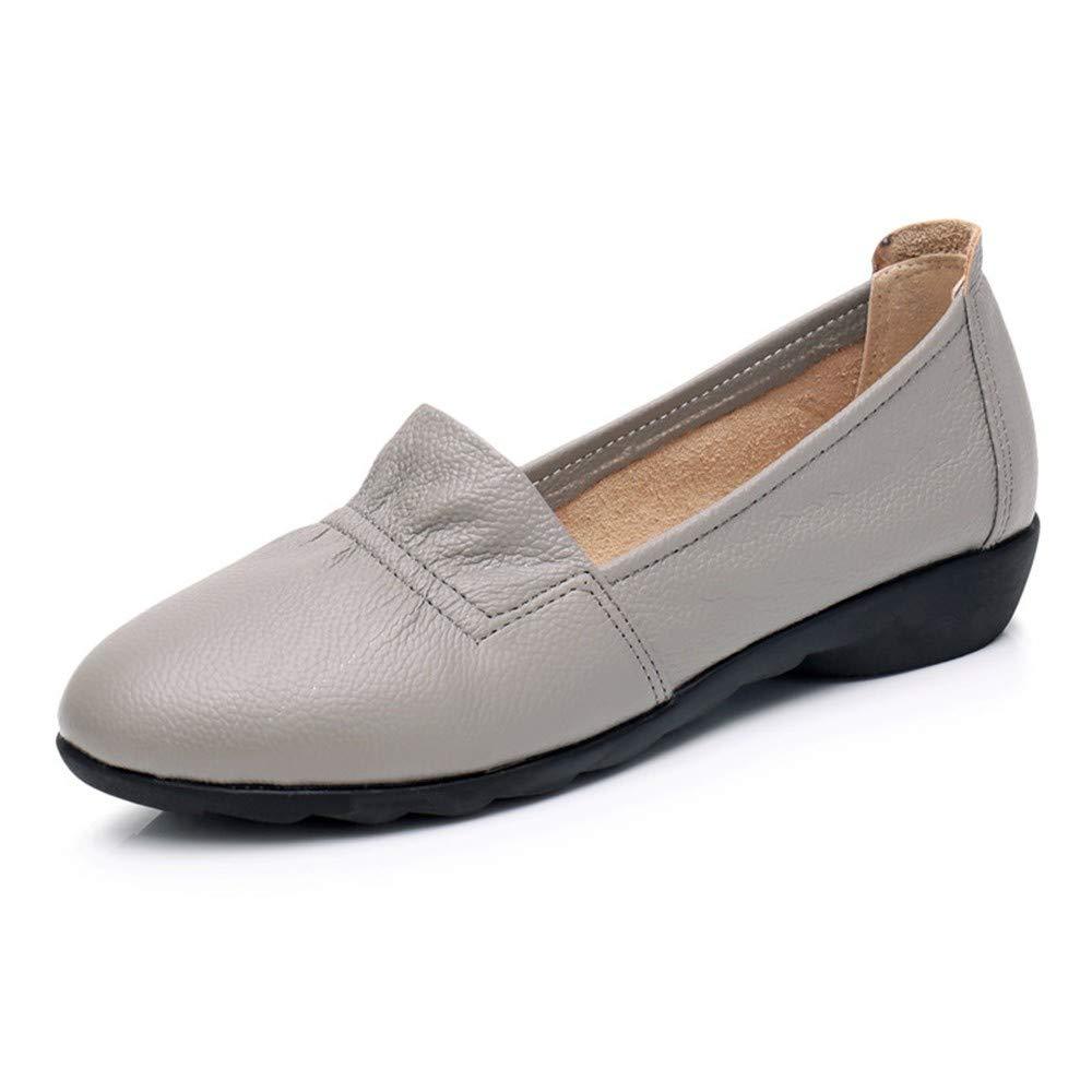 FLYRCX Chaussures de Travail en Chaussures Cuir Fond Souple Confortable Chaussures en Plates en Cuir Souple Chaussures Simples Chaussures en Cuir 42 EU 751726