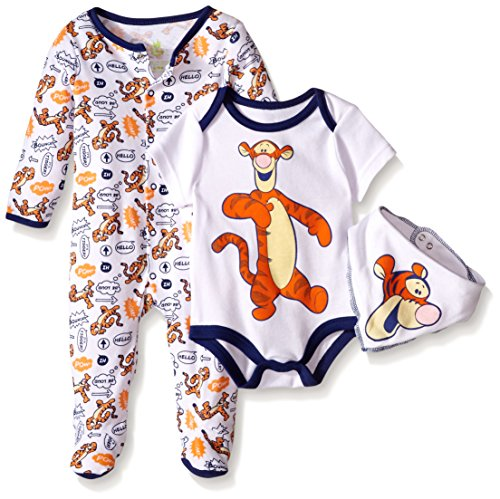 Disney Baby Tigger 3 Pc Set, Multi/Orange, 0-3 Months (Baby Tigger)