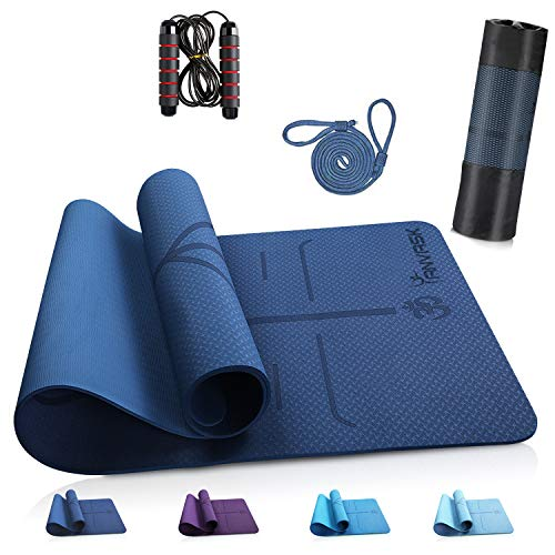 🥇 ANVASK Esterilla Yoga Esterilla Fitness Antideslizante Colchoneta Gimnasia