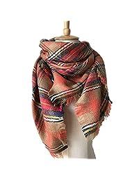RACHAPE Girls Stylish Grid Warm Blanket Scarf Winter Gorgeous Wrap Shawl