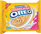 Oreo Golden Double Stuf Sandwich Cookies, Original, 15.25-Ounce (Pack of 6)