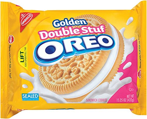 Oreo Golden Double Stuf Sandwich Cookies, Original, 15.25-Ounce (Pack of 6) by Oreo (Image #4)