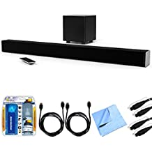 Vizio SB3831-D0 SmartCast 38' 3.1 Sound Bar System w/ Essential Accessory Bundle includes Sound Bar, 2 x 6' Optical Toslink OD Audio Cables, 2 x 6' HDMI Cables, Cleaning Kit and Microfiber Cloth
