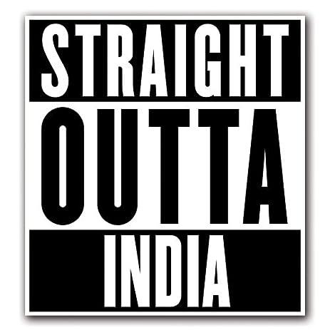 India customi straight outta series custom decal sticker for car truck macbook laptop