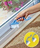 This 2 in 1 Cleaning Brush Set Goes Where No Sponge Can Fit. Ultra-Thin Brush Effortlessly Fits Into and Cleans Window, Shower, and Sliding Door Tracks, and All The Other Teeny Crevices Where Dust and Dirt Accumulate. The Scraper End Loosens ...