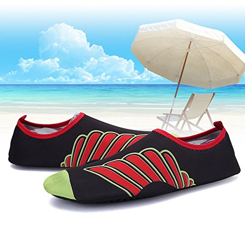 XINYI Aqua playa nadar zapatos de agua de secado rápido Slip On Piel Zapatos de Yoga calcetines para Unisex, tela, A14, XL39-40 A4