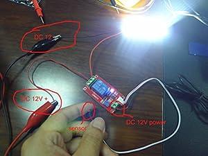 GERI 12V Light Control Switch The Photoresistor Plus Relay Module The Light Detection Switch Photosensitive Sensor