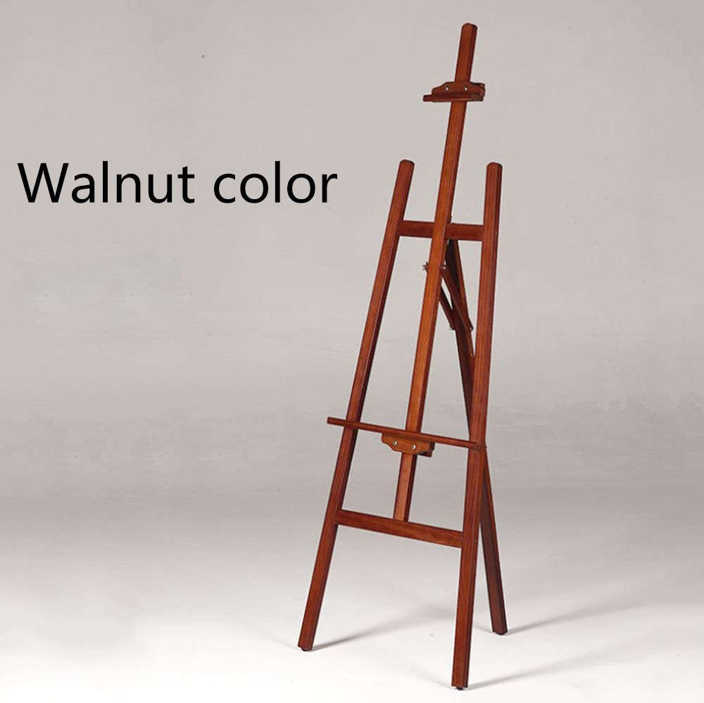 Painters Easel for Adults Adjustable Wood Artist Easel for Painting Studio Easel Stand Wooden Tripod Easel Display Floor Art Supply 4 Color,Walnutcolor