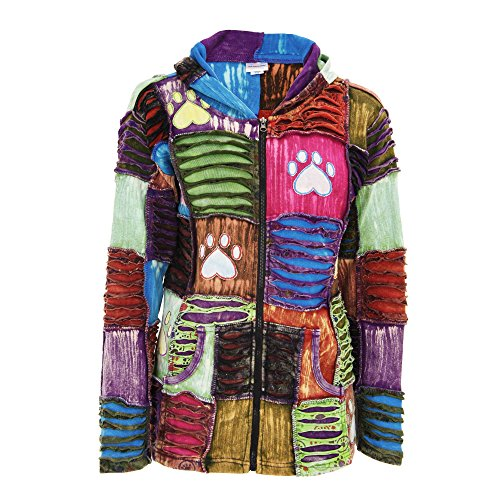 GreaterGood Patchwork Paw Print Hooded Jacket Anniversary Jacket Patch