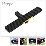 APS iStep Universal 26' Black Aluminum Rear 2' Class 3 Hitch Mounting Step Hitchstep Rear Roof Rack Bumper Guard Protector