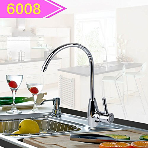 (Commercial Single Lever Pull Down Kitchen Sink Faucet Brass ConstructedStraight drinking faucet household water purifier copper net faucet kitchen pure faucet water purifier accessories, 6008)