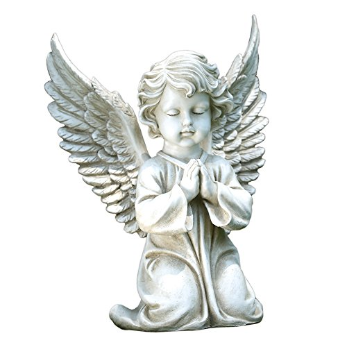 Cherub Praying - Napco Kneeling Angel Garden Statue, 15-Inch Tall