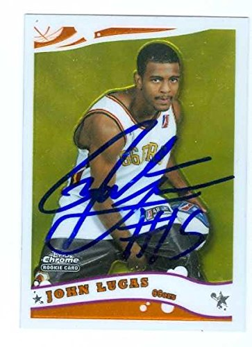 Lucas Autographed Basketball (John Lucas autographed Basketball Card (Oklahoma St.) 2006 Topps Chrome Rookie #264 - Autographed Basketball Cards)