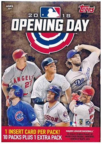Large Product Image of Topps 2018 Opening Day Baseball Factory Sealed 11 Pack Blaster Box  - Baseball Wax Packs