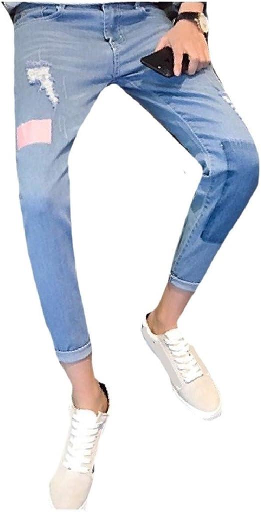 Romancly メンズすべてマッチパンツパンツパンツズボンパッチジーンズ