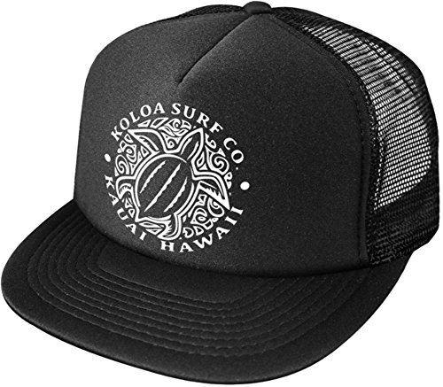 Joes USA Koloa Surf Hawaiian Turtle Honu Poly-Foam Mesh Snapback High Profile Trucker Hat