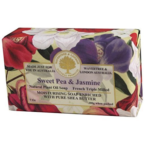 Australian Soapworks Wavertree & London 200g Soap Set of 4 - Sweet Pea & Jasmine by Australian Natural Soap
