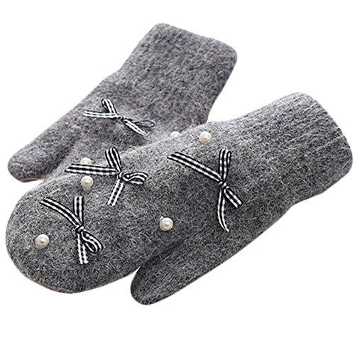屋外の手袋かわいいミトンをサイクリング厚いニットハンドウォーマーミトン手袋-A5