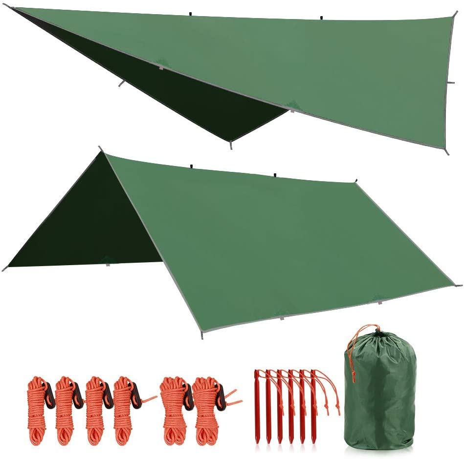 4 in 1 Tent Footprint Multifunctional for Camping Hiking Survival Tarp 90//140//180//210//240//270//300cm Lightweight Compact REDCAMP Waterproof Camping Tent Tarp