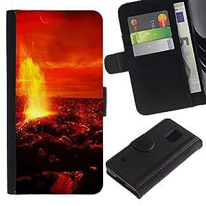Ihec-Tech / Flip PU Cuero Cover Case para Samsung Galaxy S5 V SM-G900 - Space Planet Galaxy Stars 10