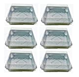 8 square cake pan with lid - Set of 6 Durable Foil Disposable Aluminum 7 3/8