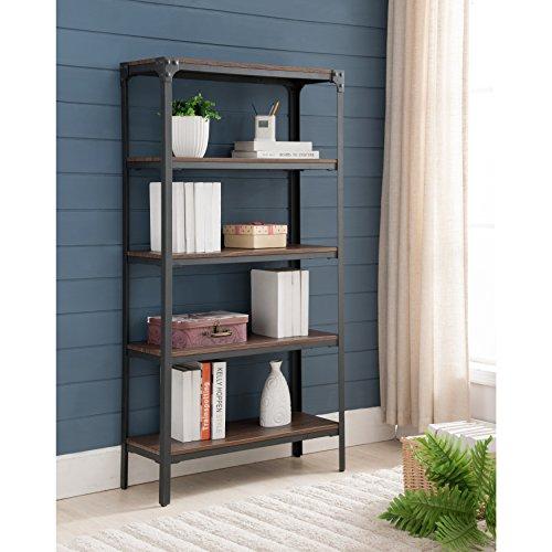 K and B Furniture Co Inc Antique Walnut Metal Wood 5-tier ()