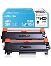 MyCartridge 2 Paquete Toner Compatible Brother TN-2420 TN2420 (con Chip) para Brother HL-L2350DW DCP-L2530DW HL-L2370DN MFC-L2710DN HL-L2370DW HL-L2375DW MFC-L2710DW(2*Negro)