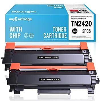 MyCartridge 2 Paquete Toner Compatible Brother TN-2420 TN2420 (con Chip) para Brother HL-L2350DW DCP-L2530DW HL-L2370DN MFC-L2710DN HL-L2370DW ...