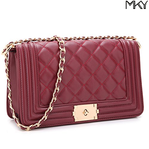 Is A Quilted Leather Clutch - 3