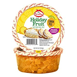 Paradise Diced Lemon Peel, 8 Ounce (Pack of 1)