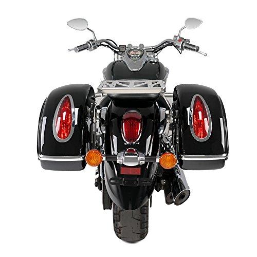 Alforjas Rigidas + Soportes Yamaha XVS 950 A Midnight Star 09-16 Customacces