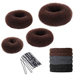 Hair Bun Maker Set, YaFex Donut Bun Make...